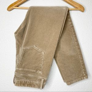 BANANA REPUBLIC Camel Corduroy Ankle Pants
